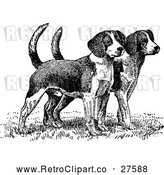 April 16th, 2018: Vector Clip Art of Retro Beagle Puppies by Prawny Vintage