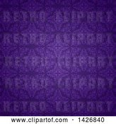 Vector Clip Art of Retro Beautiful Purple Damask Pattern by KJ Pargeter