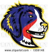 Vector Clip Art of Retro Bernese Mountain Dog Dog Mascot by Patrimonio