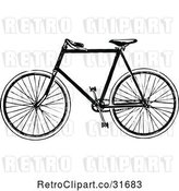 Vector Clip Art of Retro Bicycle 2 by Prawny Vintage