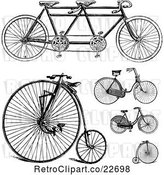 Vector Clip Art of Retro Bicycles by BestVector