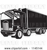 Vector Clip Art of Retro Big Rig Truck 3 by Patrimonio