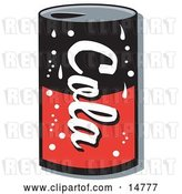 Vector Clip Art of Retro Black and Red Can of Cola Soda by Andy Nortnik
