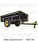 Vector Clip Art of Retro Black and Yellow Trailer by Patrimonio