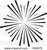 Vector Clip Art of Retro Black Burst by Vectorace