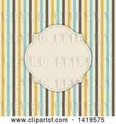Vector Clip Art of Retro Blank Frame over Stripes by KJ Pargeter