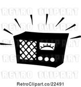 Vector Clip Art of Retro Blaring Radio by BestVector