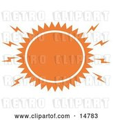 Vector Clip Art of Retro Blazing Hot Orange Sun by Andy Nortnik