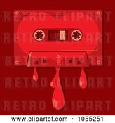 Vector Clip Art of Retro Bleeding Love Song Cassette Tape by Any Vector