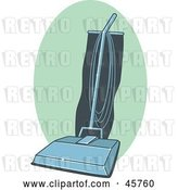 Vector Clip Art of Retro Blue and Teal Vacuum Cleaner by R Formidable