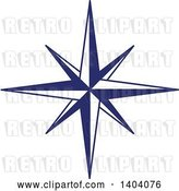 Vector Clip Art of Retro Blue and White Nautical Star by Inkgraphics