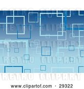 Vector Clip Art of Retro Blue Background of Light and Blue Transparent Squares by KJ Pargeter