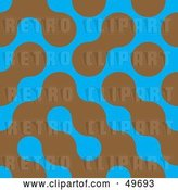 Vector Clip Art of Retro Blue Background with Brown Blobs by Arena Creative