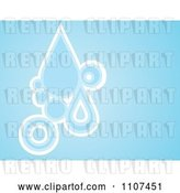 Vector Clip Art of Retro Blue Background with Water Drops and Circles by Amanda Kate