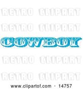 Vector Clip Art of Retro Blue Western Cowboy Restroom Sign by Andy Nortnik