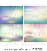 Vector Clip Art of Retro Blur Backgrounds by KJ Pargeter