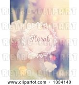 Vector Clip Art of Retro Blurred Floral Background with Sample Text 2 by KJ Pargeter