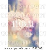 Vector Clip Art of Retro Blurred Floral Background with Sample Text by KJ Pargeter