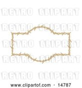 Vector Clip Art of Retro Border Frame of Barbed Wire over a White Background by Andy Nortnik