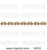 Vector Clip Art of Retro Border of Candy Corn by Andy Nortnik