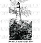 Vector Clip Art of Retro Boston Lighthouse by Prawny Vintage