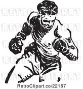 Vector Clip Art of Retro Boxer by BestVector