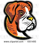 Vector Clip Art of Retro Boxer Dog Mascot Head by Patrimonio