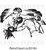 Vector Clip Art of Retro Boxers Fighting by BestVector