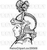 Vector Clip Art of Retro Boy in Knights Armour by Prawny Vintage