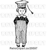 Vector Clip Art of Retro Boy with a Hat by Prawny Vintage