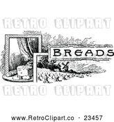 Vector Clip Art of Retro Breads Recipe Label by Prawny Vintage