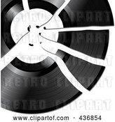 Vector Clip Art of Retro Broken Record by Elaineitalia
