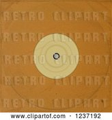 Vector Clip Art of Retro Brown Paper Vinyl Record Album Sleeve by Elaineitalia