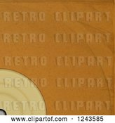 Vector Clip Art of Retro Brown Paper Vinyl Record Album Sleeve with Text Space by Elaineitalia