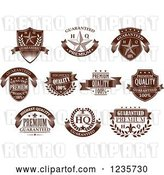 Vector Clip Art of Retro Brown Quality Guarantee Labels 2 by Vector Tradition SM