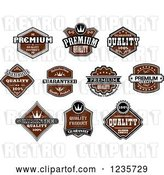 Vector Clip Art of Retro Brown Quality Guarantee Labels by Vector Tradition SM