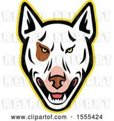 Vector Clip Art of Retro Bull Terrier Dog Mascot Head by Patrimonio