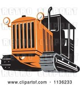Vector Clip Art of Retro Bulldozer Machine 3 by Patrimonio