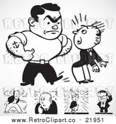 Vector Clip Art of Retro Bully Men by BestVector