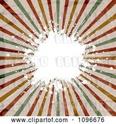 Vector Clip Art of Retro Burst and White Grungy Splatter by KJ Pargeter