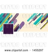 Vector Clip Art of Retro Business Facebook or Website Banner Design with a Space for a Photo or Logo with Colorful Shards on Tan by KJ Pargeter