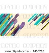 Vector Clip Art of Retro Business Facebook or Website Banner Design with Colorful Shards on Tan by KJ Pargeter