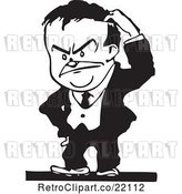 Vector Clip Art of Retro Business Man Scratching His Head by BestVector