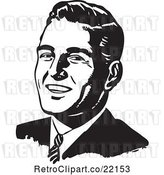 Vector Clip Art of Retro Business Man's Face by BestVector