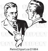 Vector Clip Art of Retro Business Men Talking by BestVector