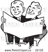 Vector Clip Art of Retro Businessmen Reading a Paper by BestVector