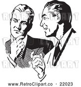 Vector Clip Art of Retro Businessmen Talking About an Idea by BestVector