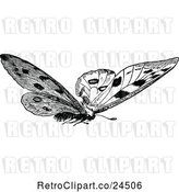 Vector Clip Art of Retro Butterfly 2 by Prawny Vintage