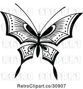 Vector Clip Art of Retro Butterfly by Prawny Vintage