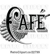 Vector Clip Art of Retro Cafe Sign 1 by Prawny Vintage
